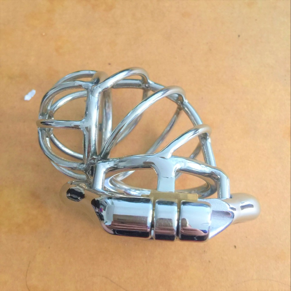 Reverse Design Stainless Steel Stealth Lock Male Chastity Device,Cock Cage,Virginity Penis Lock,Cock Ring,Chastity Belt,S073