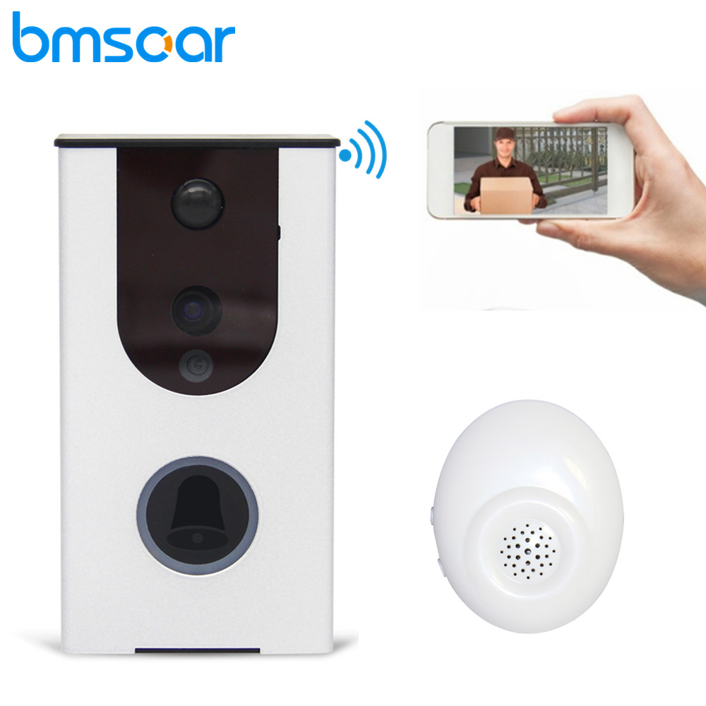 Wireless WiFi Doorbell Video Phone Intercom Battery Security 720P HD Waterproof Two Way Audio Night Vision Baby Alarm Monitor vb603 new two way intercom intelligent alarm mobile monitoring wireless baby monitor
