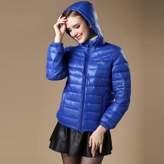 New 2016 Winter Autumn Women 90% White Duck Down Jacket Women's Hooded Light Down Jackets Warm Winter Coat Parkas High Quality 2