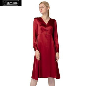 LILYSILK Natural Silk Dress Retro Inspired  Fashion Office Lady Enchanting 22 Momme Free Shipping