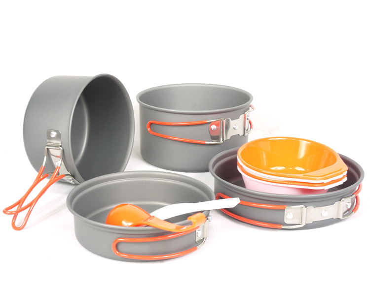 Fire Maple FMC-K7 Portable Aluminum Alloy Pot Sets Outdoor Cookware 2-4 Persons Cooking 710g fire maple pots set outdoor camping foldable cooking cookware aluminum alloy for 2 3 persons fmc 208