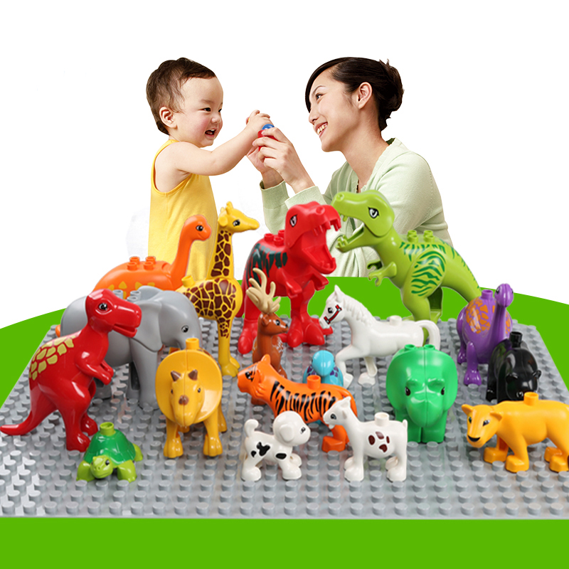 Animal Series Block Figures Model Big Size Building Blocks Animals Educational Toys For Kids Children Gift