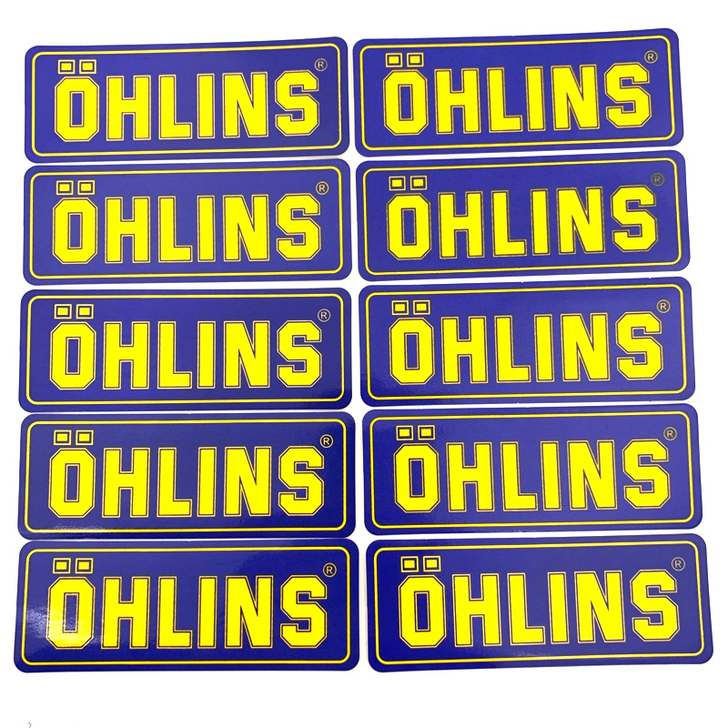 A Bag Moto Sticker Accessory Pvc Ohlins Suspension Modification Decoration Decal 10 Pcs