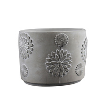 Silicone Cement Mold Embossed Concrete Flowerpot Mould DIY Planter Pen Barrel Desktop Decoration Tool