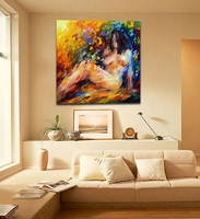 Modern Palette Knife Oil Painting Abstract Nude Body Art Sexy Woman Wall Art Picture Printed On