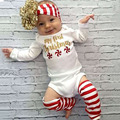 Hot! Fashionable Design 3pcsborn Kids Baby Girls Autumn Winter Clothing Set Long Sleeve Romper + Leggings + Headband New Sale