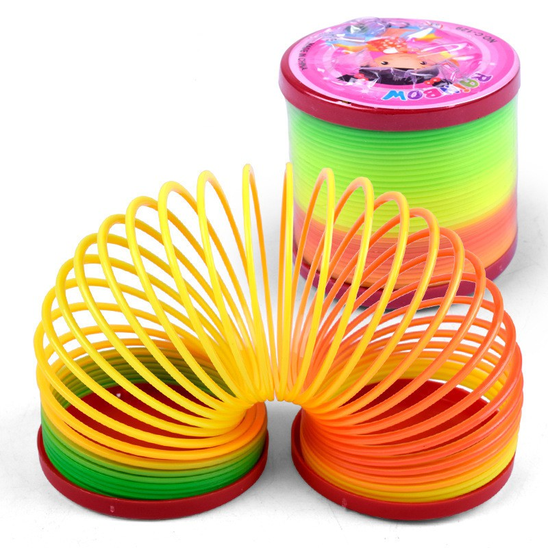 Type 4 Slinky Children Toys Party Gifts Bookmark Labels, Indexes & Stamps Strict Rainbow Spring Slinky Toy Springs Circles Type 1
