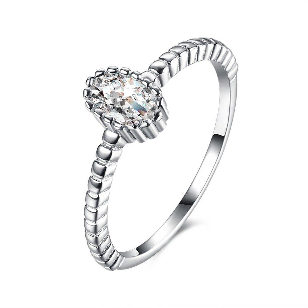Обещание подарка звенит Настоящее 925 Серебряное кольцо Размеры 5/6/7/8 SVR083 оптовая продажа Свадебная ювелирные изделия свадебный подарок