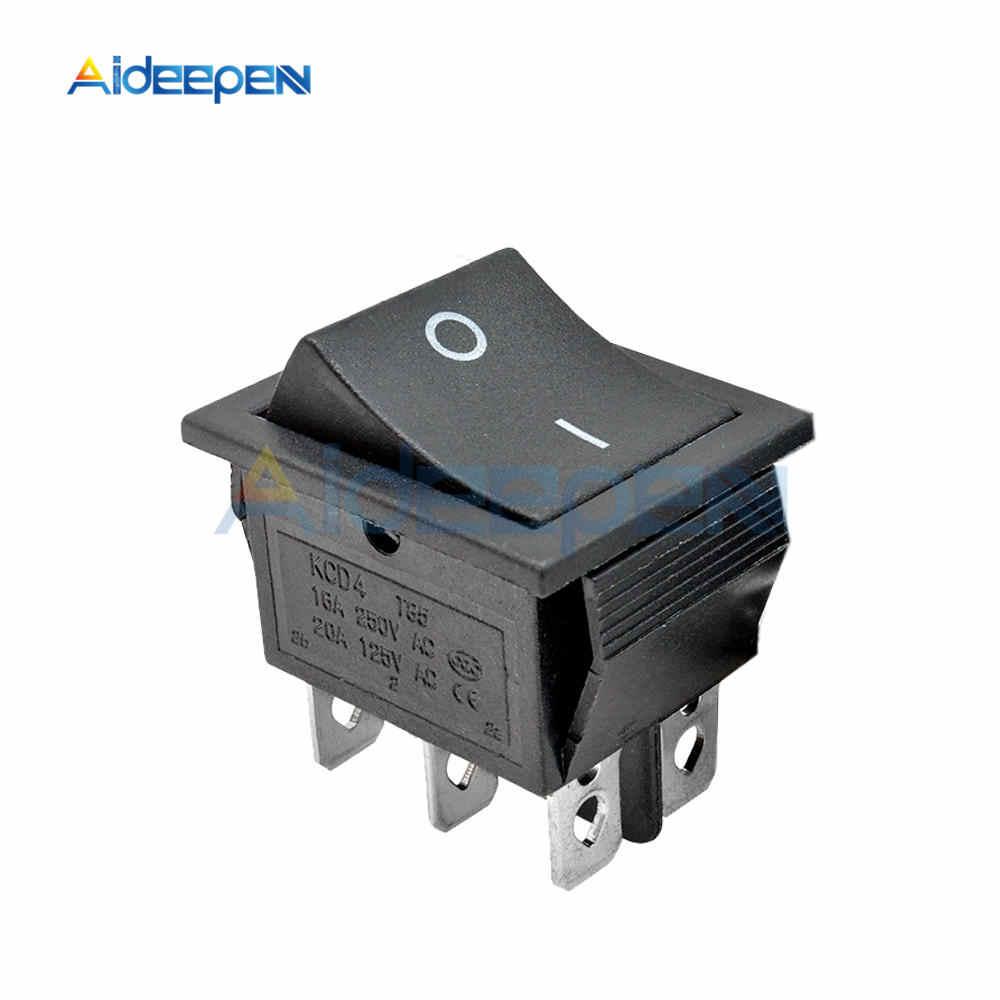 KCD4 Rocker Switch Power Schalter 2 position/3 position 4 Pins 6 Pins Elektrische Ausrüstung Mit Licht Schalter 16A 250VAC/20A 125VAC