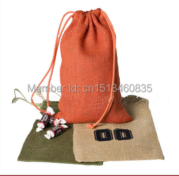 100pcs/lot CBRL  jute bags, jute pouch, linen pouch for accessories/headwear,Various colors,size customized,wholesale
