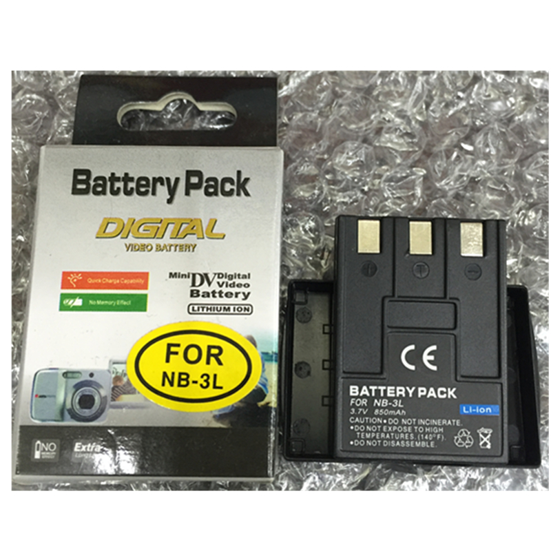 NB 3L NB3L lithium batteries NB 3LDigital camera battery For Canon IXUS 750 700 i i5