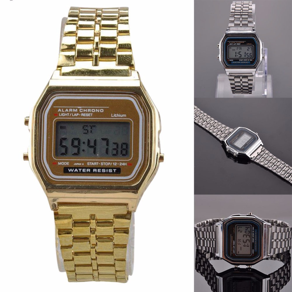 Relogio Masculino Vintage horloge Electronic Digital Display Retro - Herenhorloges - Foto 4
