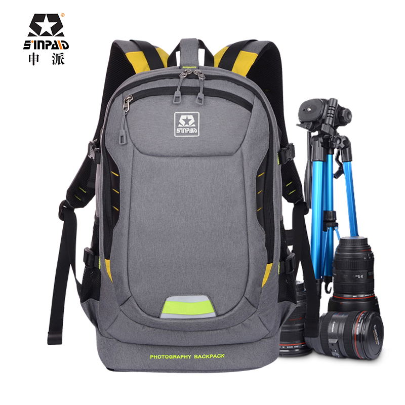 ФОТО Sinpaid Ultra Durable Wear-resistant Waterproof Anti-theft Prevent Vibration Travel Camera Bags  Weight Reduction SLR Backpack