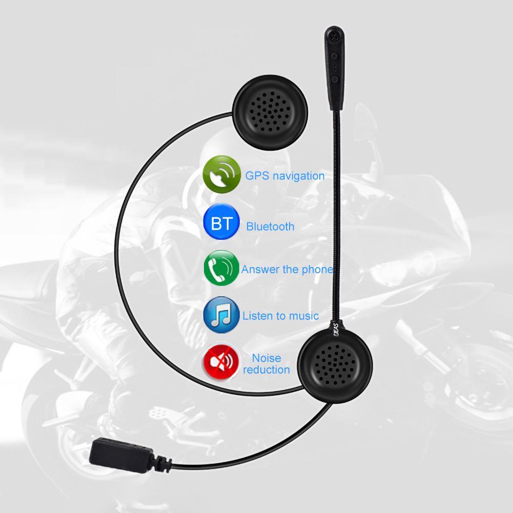 E1 Motorcycle Cycling Helmet Bluetooth 4.1 Music Headset Portable Wireless Headphone