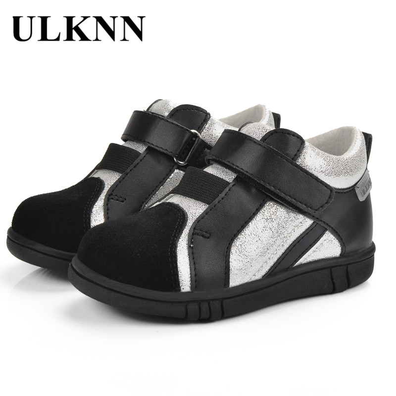 ULKNN Sport shoes for Boy Children Casual Shoe Black soft Running Shoes Sport Toddler Baby Kids Shoe Leather chaussure enfant