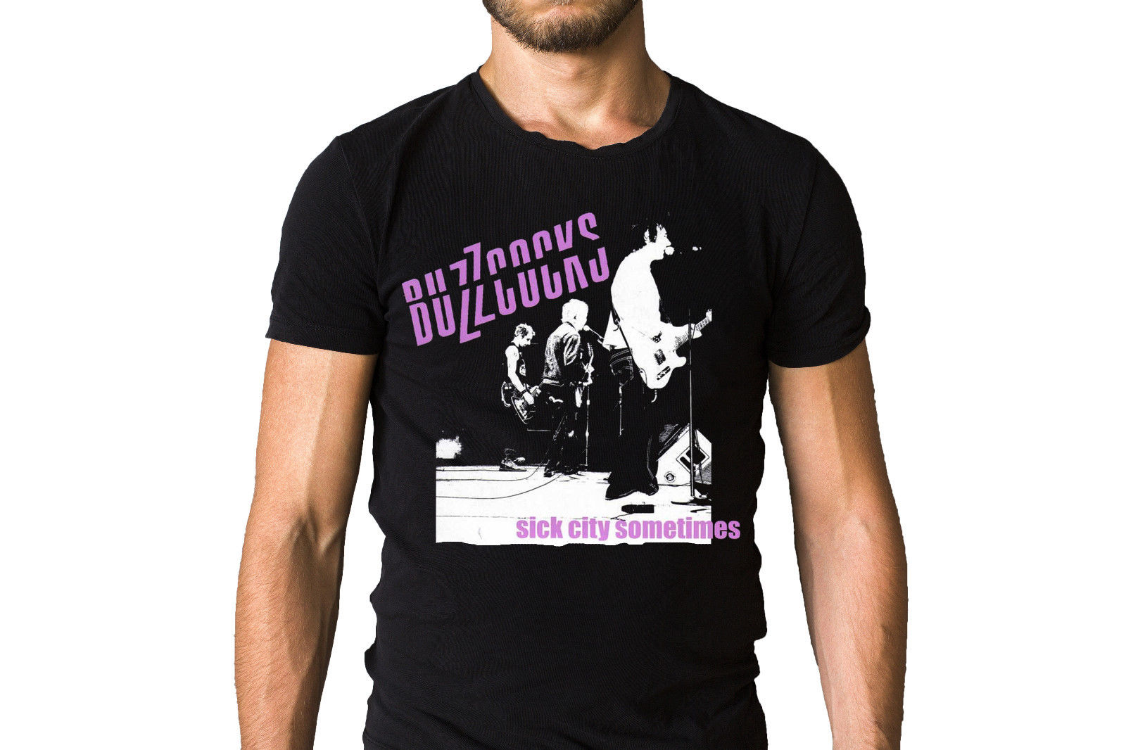 Buzzcocks Sick City Sometimes T-Shirt Adult 100% Cotton Customized Tees New T Shirts Funny Tops Tee Shirt