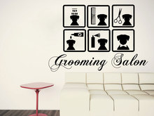 Dog Care Wall Decal Grooming Salon Stickers Pet Shop Home Decor Vinyl Wallpaper Removable Pets Sticker RL01