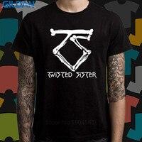 Funny Print T Shirt Gildan Twisted Sister Bone Logo Metal Rock Band Men S Crew Neck