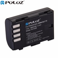 PULUZ DMW BLF19 7 4V 1860mAh Rechargeable Li Ion Battery For Panasonic Lumix DMC GH3 GH3A