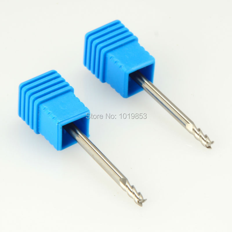 SLONS S200AL-3*3*50L 3mm Shank Diameter Tungsten Carbide End Mill For Aluminium Alloy