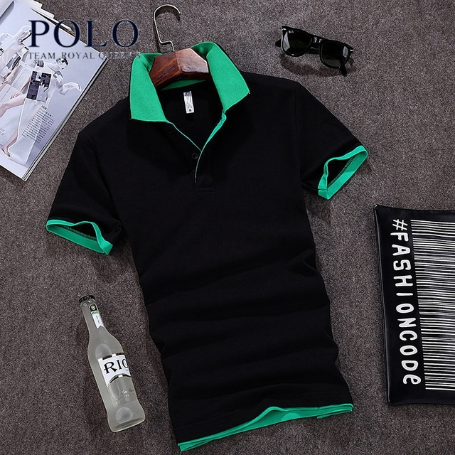 Royal Queen's Polo Team summer new polo short-sleeved compassionate lapel summer business business male Paul shirt shirts cotton