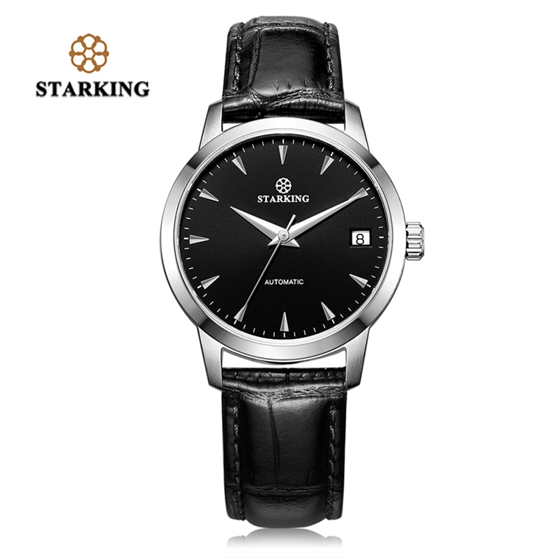 STARKING Top Brand Male Watch Luxury Mechanical Self-Winding Casual Leather Clock 5ATM Waterproof Men's Automatic Aviator Watch ultra luxury 2 3 5 modes german motor watch winder white color wooden black pu leater inside automatic watch winder