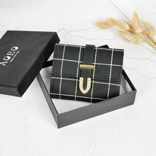 Lee Princess ladies small wallet Female with zipper coin purse holder for credit cards Girls plaid wallets women purse for coins 3157 fashion women wallet leather small crossbody bags girls purse multiple cards holder phone pocket female standard wallets