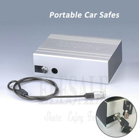 High Quality Portable Key Lock Car Safes Box Jewelry Cash Pistol Storage Boxes For Home Desk