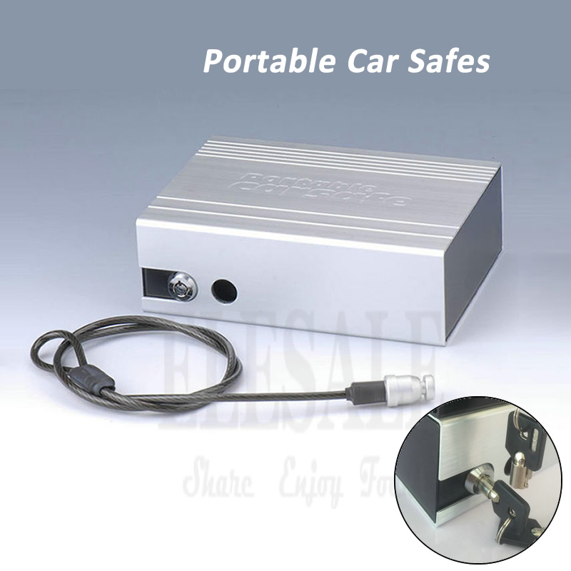 High Quality Portable Key Lock Car Safes Box Jewelry Cash Pistol Storage Boxes For Home Desk Car Safes 210*152*69 Mm