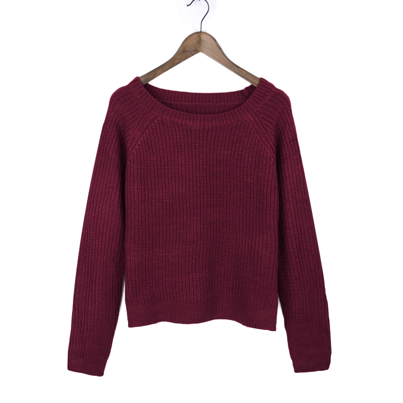 Autumn winter women sweaters and pullovers korean style long sleeve casual crop sweater slim solid knitted jumpers sweater mujer 15