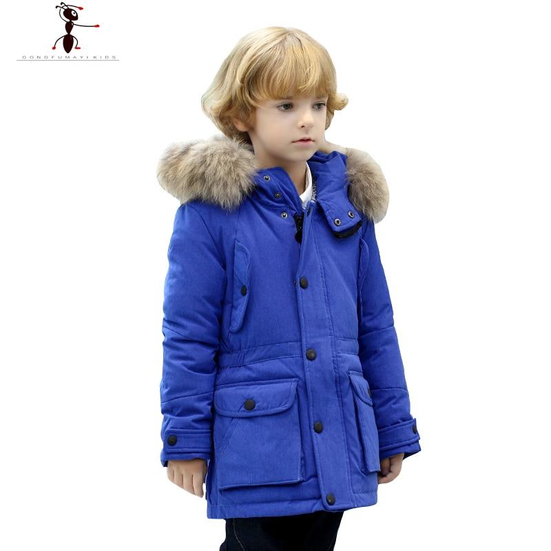 Hooded Children Black Red Blue Parkas Long Duck Down Fashion Coat for Boys Manteau Boys' Winter Clothes GS506 женское платье no s xxl