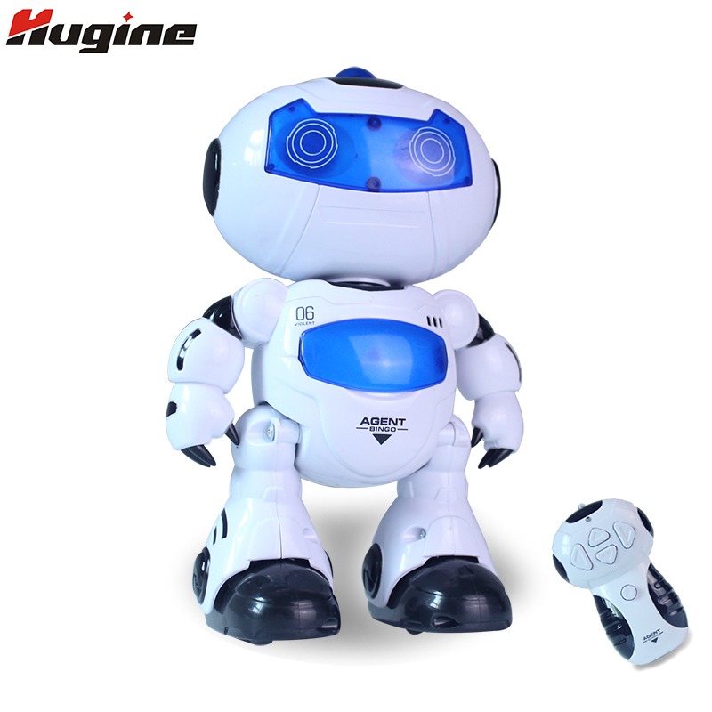 RC Smart Robot Remote Control Toys Intelligent Walking Space Robot with Music & Light Hobby Birthday Gift for Kids kids toys space robot bump and go action music lights and tons fun early learning walking robot music light gift 12m baby toys