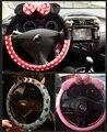 Inverno cobertura de volante de carro bonito minion panda de pelúcia Mickey mulheres meninas decoração de cobre estilo do carro