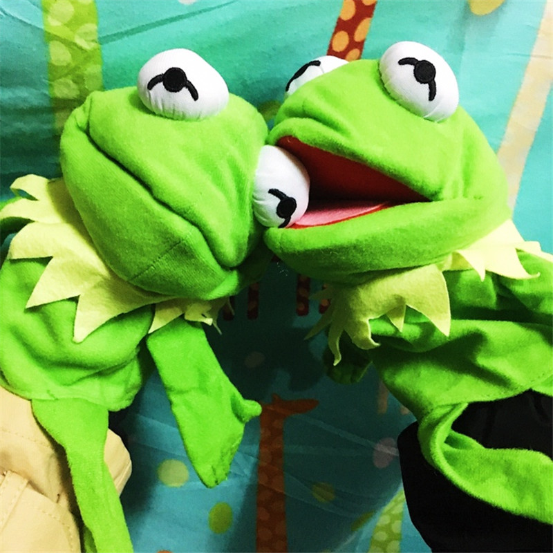 Plush Puppets Kermit Frog Educational Toys Sesame Street Dolls English Story Toy Kermit The Frog Hand Puppet Gifts