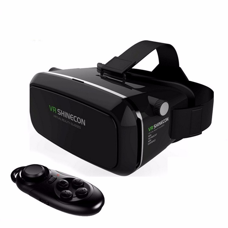 Hot VR Shinecon Bluetooth Virtual Reality 3D Glasses Headset For Iphone Samsung VR Bo 4.0-6.0 Inch Phone Google Cardboard 2.0