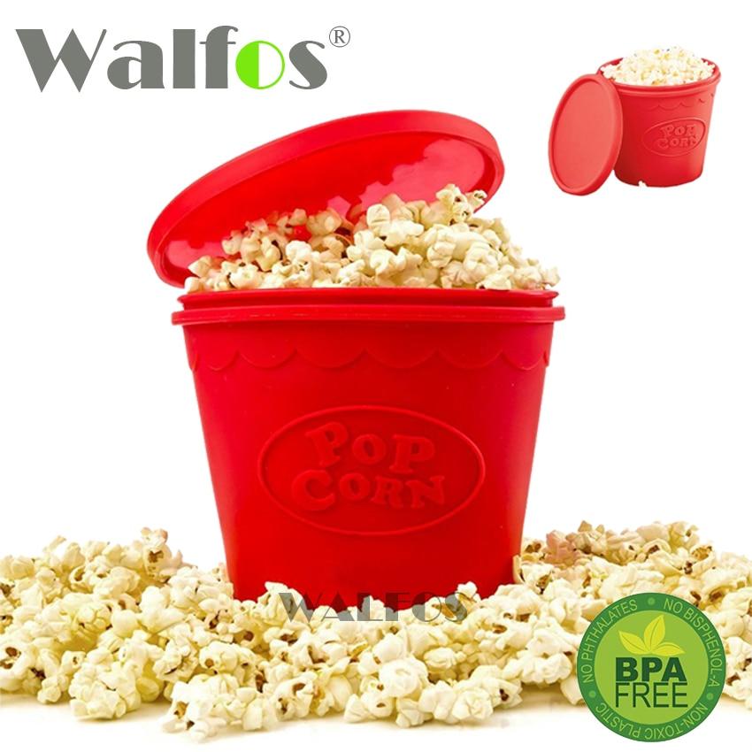 WALFOS Gezien op tv siliconen popcorn container magnetron popcorn maker keuken bakwaren DIY cakevorm