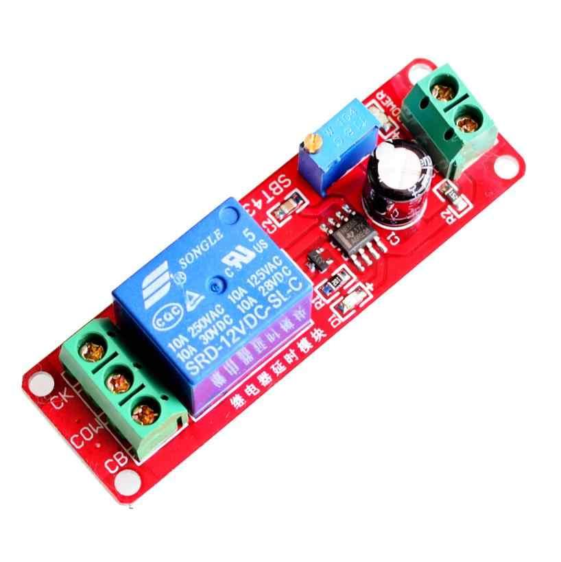 C 12 V Trễ Tiếp Shield Module NE555 Hẹn Giờ Có Thể Điều Chỉnh Mô Đun 0 Đến 10 Thứ Hai 0 ~ 10 S xe Dao Động Điện Robot Kit