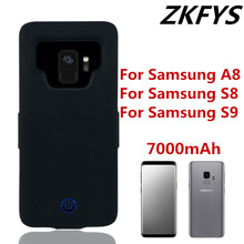 ZKFYS 7000mAh Ultra Thin Fast Charger Case For Samsung Galaxy S8 S9 A8 Power Bank Battery Cover