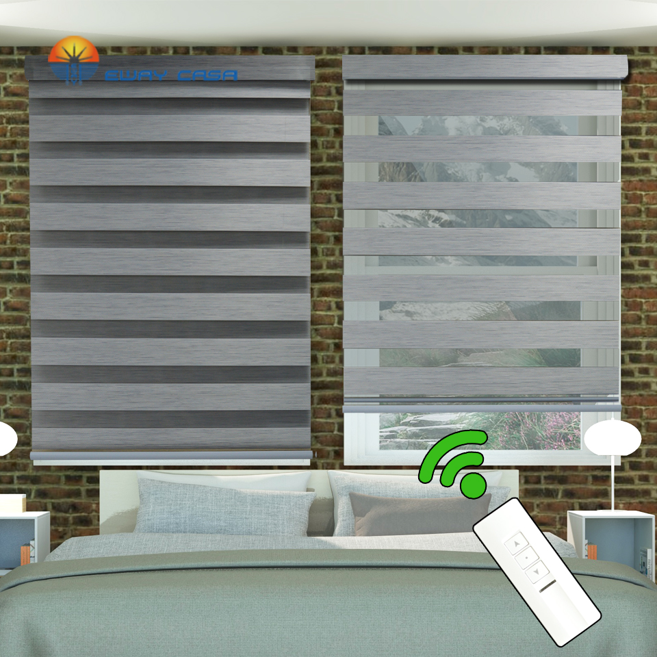EWAY CASA Motorized Zebra Blinds Motorized Zebra Curtains Motor AC 220V Motor Blind Electronic Curtains Quiet 36DB No.MZB_MT_30T