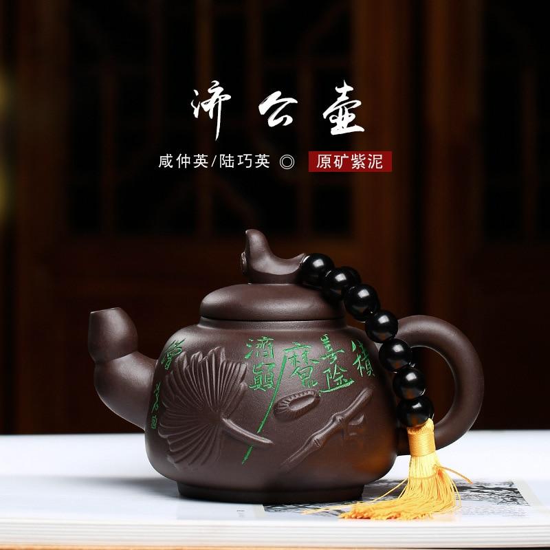 Artista Xianzhong Yinglu Qiaoying originale miniera viola argilla fatto a mano Jigong pentola commercio all'ingrosso su misura di un sostituto