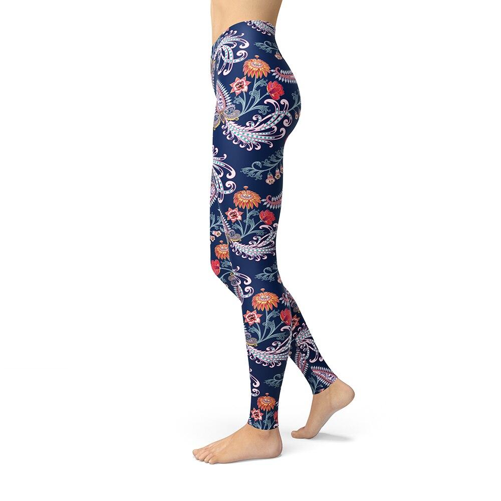 Paisley Blumen Gedruckt Leggings Für Frauen Mädchen Gebürstet Butter Weiche Indische Ethnische Slim Fitness Plus Größe Hohe Taille Leggins
