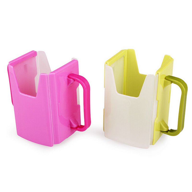 1Pcs Fashion Adjustable Plastic Safy Baby Toddler Kid Juice Milk Box Drinking Bottle Cup Holder Mug