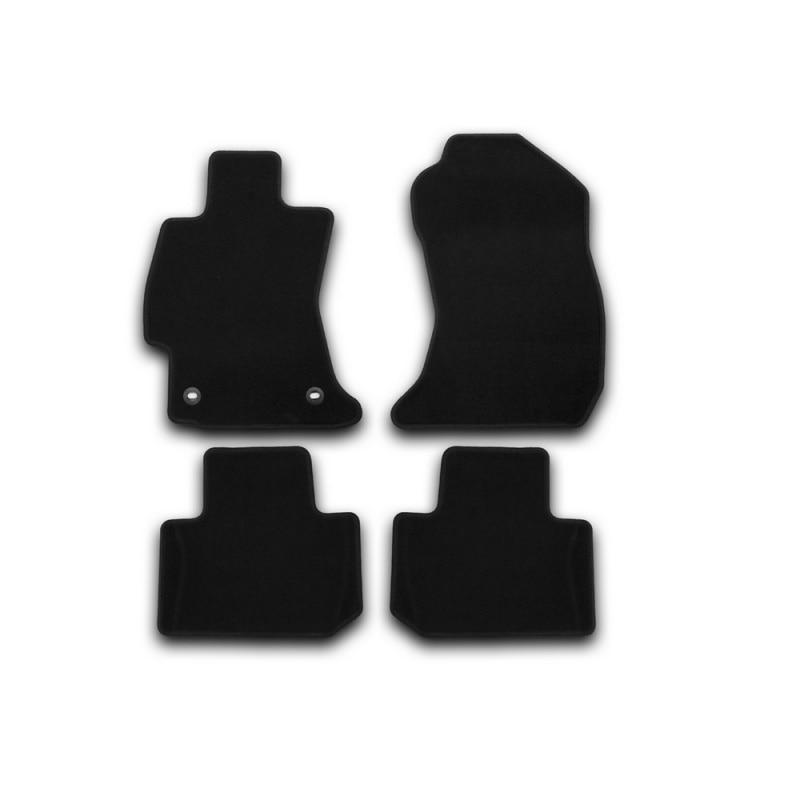 Mats in salon Klever Econom For SUBARU Forester 2013-2018, cross... 4 PCs (textile)
