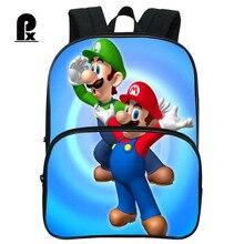 Pacento Супер Марио рюкзак ребенка детей Школьные сумки детский сад Сумки на плечо для Обувь для мальчиков мини Повседневное Back Pack Малый