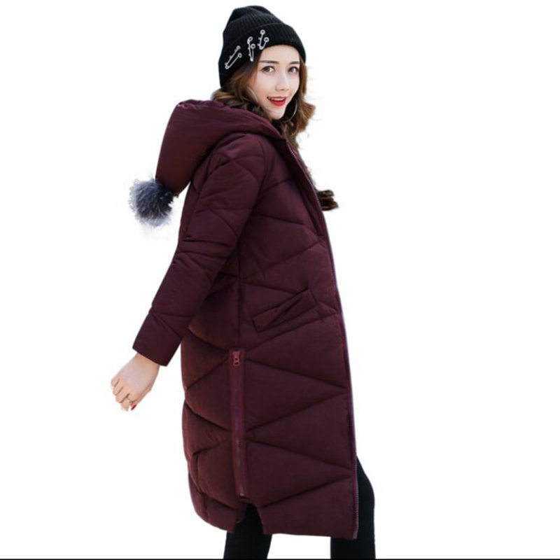 2017 New arrival winter jacket women down Cotton-padded long jackets womens clothing outwear coats   parka with hooded miss fofo womens down coats c l j jackets fashion female parka 3d print oil painting flower long outwear women s down jackets