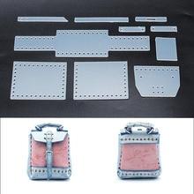 DIY Кожаная мини-сумка маленькая школьная сумка Подвеска для шитья шаблон ПВХ