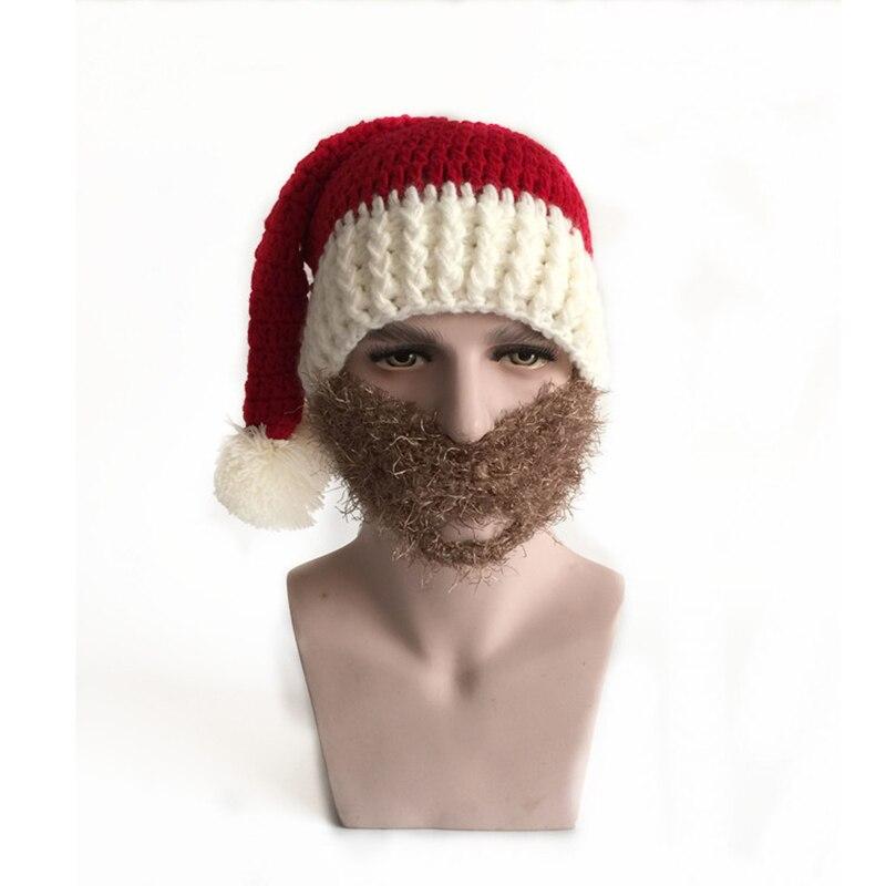 Men Funny Hat Adult Crochet Knit Beanie Santa Claus Handmade Knitted ...