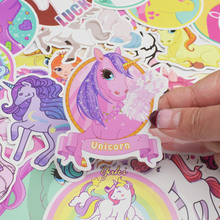 Cartoon Unicorn Stickers Set