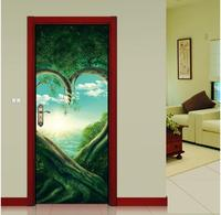 DIY creative waterproof and removable PVC plane love tree wall sticker 3D effect picutre sticker for bedroom door sticker