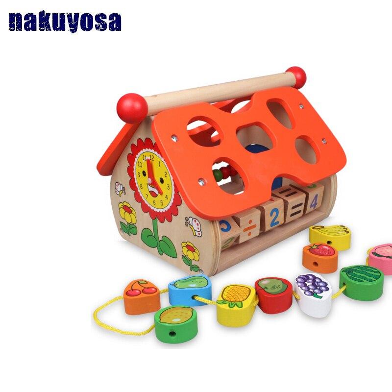 Fruits pour enfants sagesse maison enfance jouets éducatifs en bois jeu drôle enfants cadeau d'anniversaire